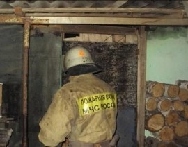 Огонь уничтожил в Липецкой области строение