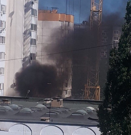 В 24-м микрорайоне Липецка – пожар (фото, видео)