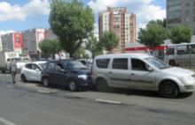 Тройное столкновение на Московском проспекте в Ярославле