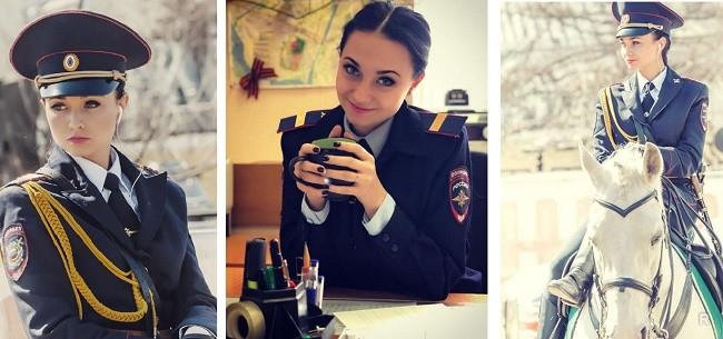 Сотрудница конной полиции Москвы стала звездой среди иностранных гостей