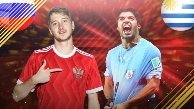 Прямая онлайн трансляция матча Россия — Уругвай