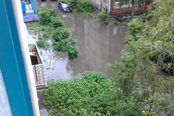 Ливень затопил улицы Омска