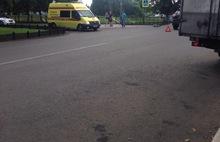 В центре Ярославле джип сбил пьяного велосипедиста