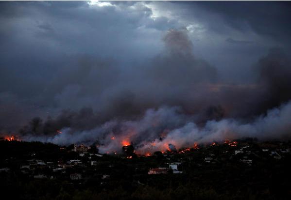 Пожары в Греции сейчас: где, схема на карте, видео