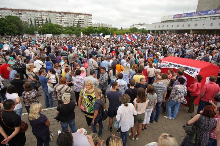 Сибиряки вышли на митинги против повышения пенсионного возраста