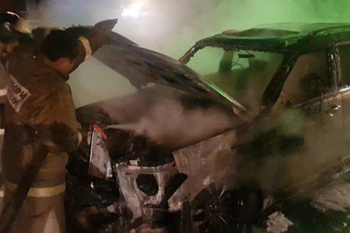 Неизвестные подожгли автомобиль мэра города в Иркутской области