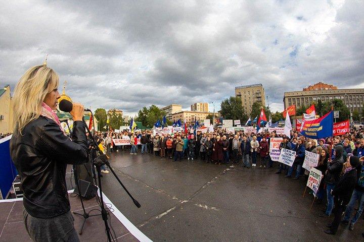 «Зайдите на кладбище, посмотрите годы жизни»: новосибирские профсоюзы продолжают протест против пенсионной реформы
