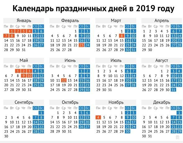 Новогодние каникулы в 2019 году продлятся 10 дней