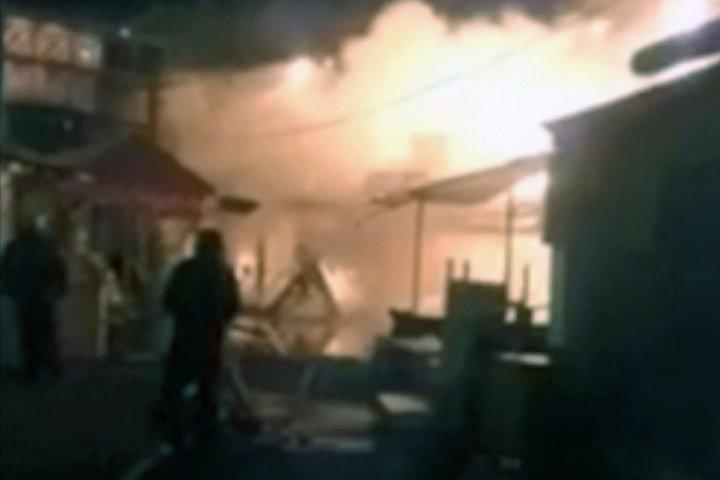 Рынок сгорел в Красноярске на месте будущего жилого микрорайона