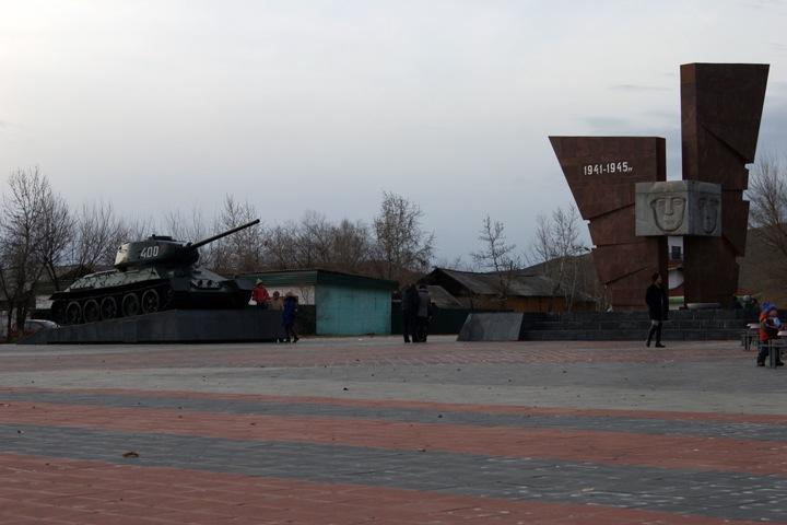 Неизвестные подожгли танк в Туве