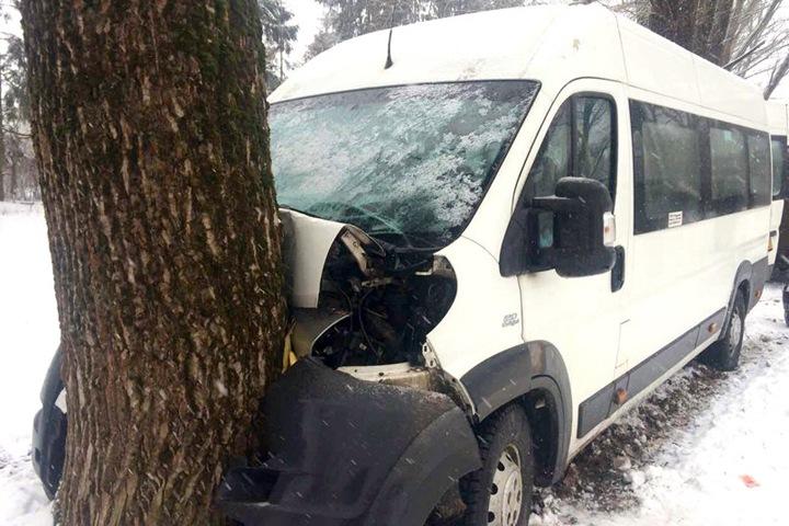 Автобус с пассажирами врезался в дерево на Алтае. У водителя остановилось сердце