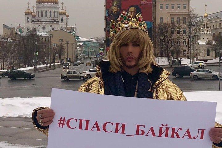 Шоумена Сергея Зверева вызвали в полицию за пикет в защиту Байкала