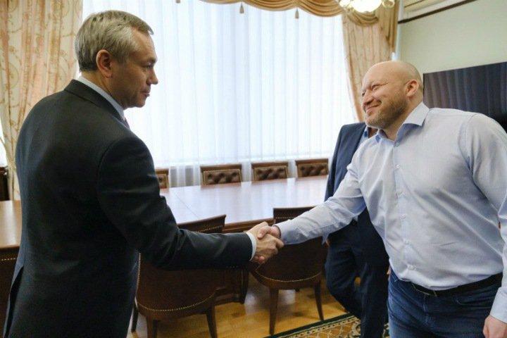 Губернатор Травников поставил ХК «Сибирь» новую задачу