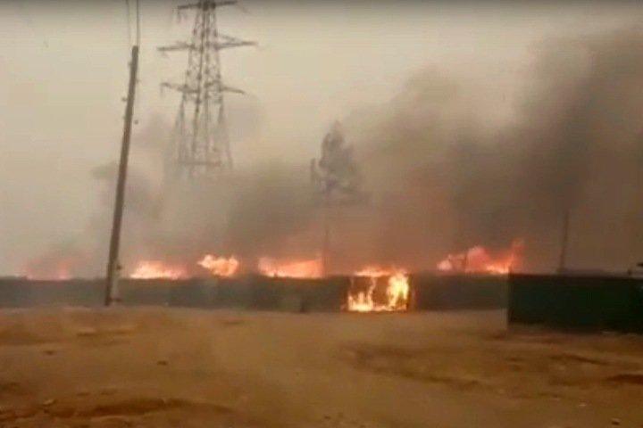 Село загорелось в Забайкальском крае