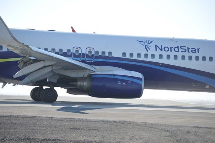 Самолет выкатился за пределы взлетно-посадочной полосы в Норильске