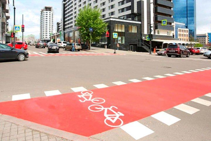 Велодорожка длиной в несколько метров появилась в Красноярске