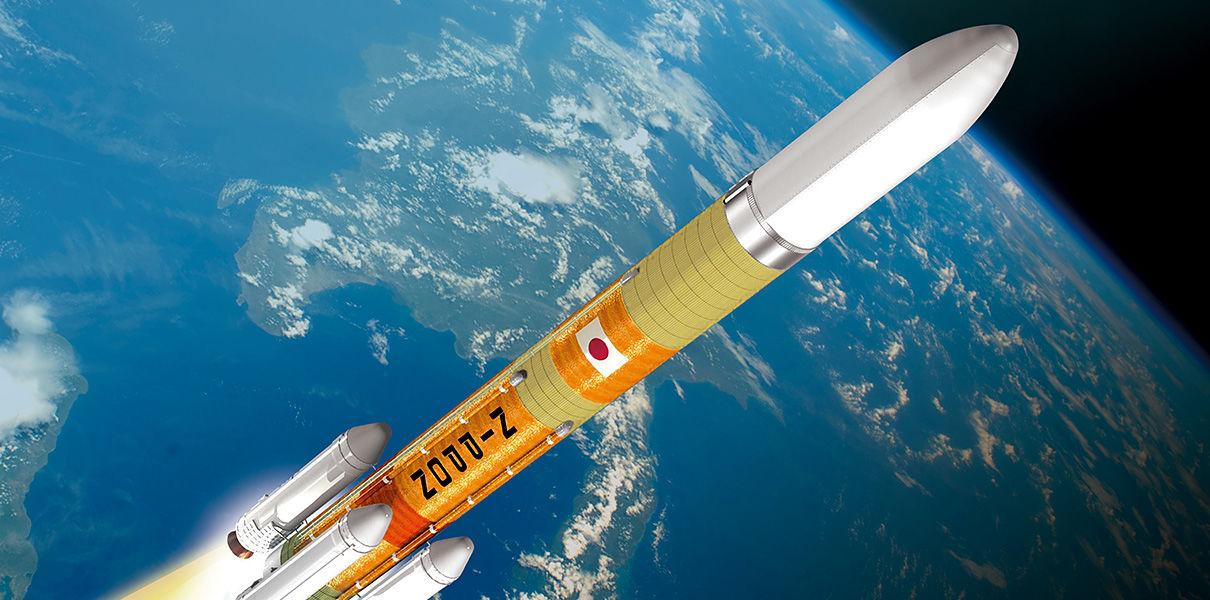 Японская ракета на саке рухнула в море