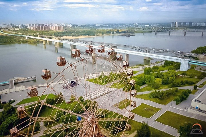 Колесо обозрения на набережной в Новосибирске закрыли после открытия