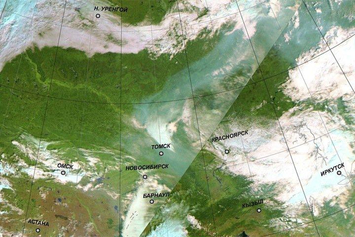 Дым от природных пожаров возвращается в Западную Сибирь