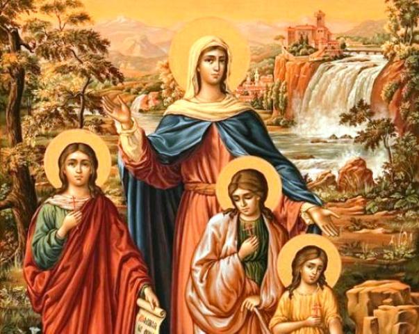 30 сентября — праздник Веры, Надежды, Любови и матери их Софии
