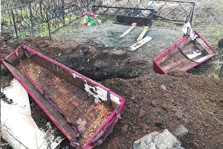 Гробы с останками нашли в Алтайском крае во время строительства магазина