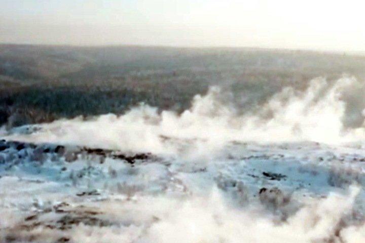 Пожар начался на брошенных угольных разрезах под Новокузнецком