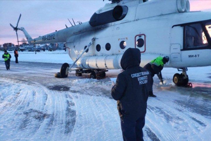 Стойка шасси подломилась у вертолета после приземления в Иркутске