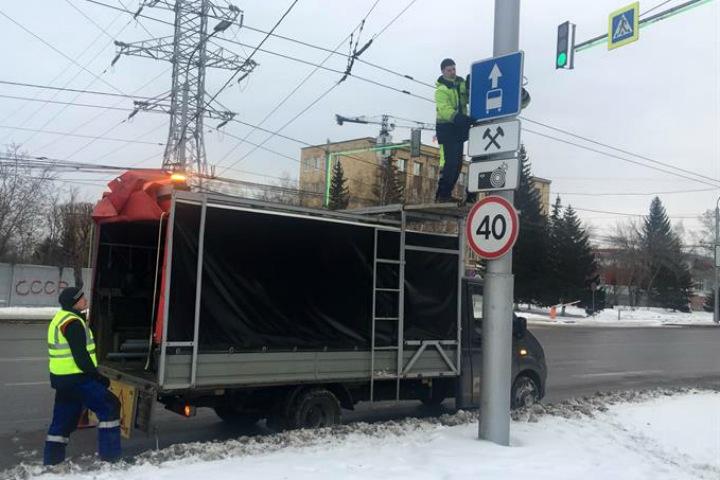 Выделенные для общественного транспорта полосы «урежут» в Красноярске