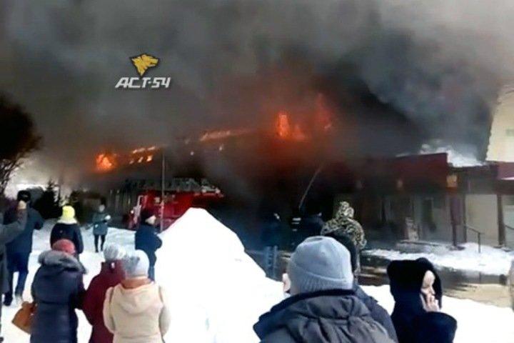 Центральный рынок загорелся в Искитиме