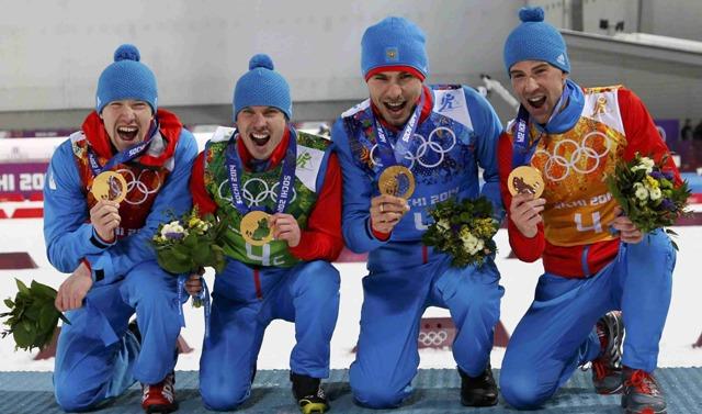 Российскую команду по биатлону лишили золота