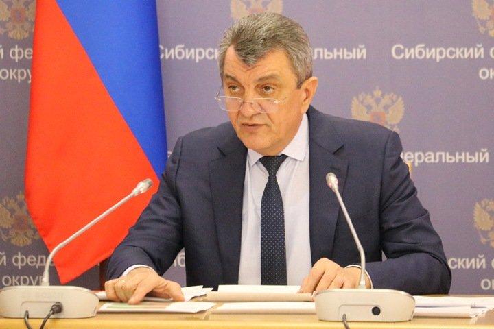 Полпред призвал проследить за масочным режимом новосибирцев на совещании без масок