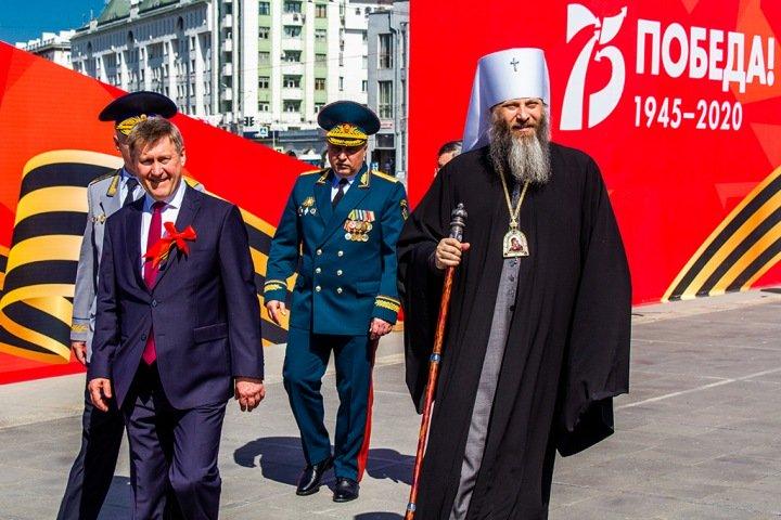Военный парад в Новосибирске. Фоторепортаж