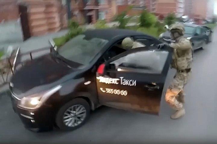 ФСБ заявила о задержании террористов в Новосибирске и показала видео с Яндекс.Такси