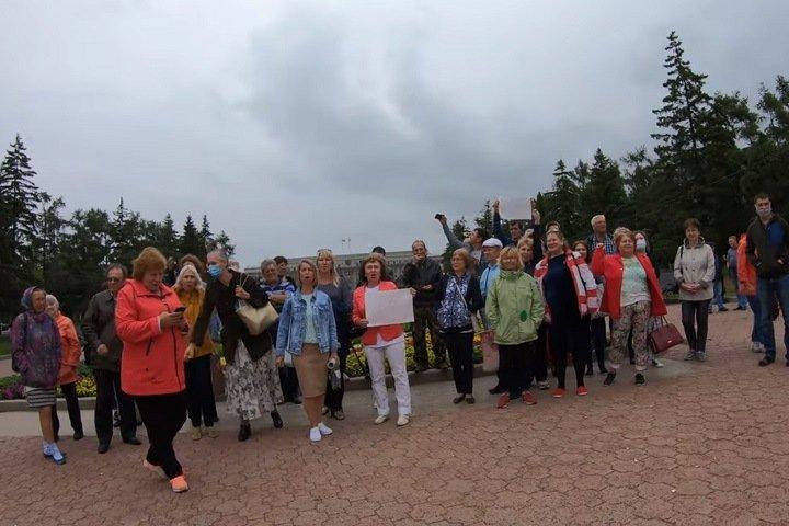 Акция в поддержку протестующих из-за ареста хабаровского губернатора Фургала прошла в Иркутске