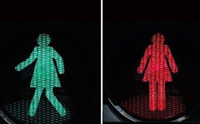 Чем «женские» светофоры отличаются от обычных?