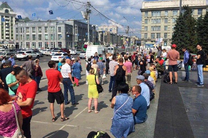 Новосибирцы вышли на акцию в поддержку хабаровчан