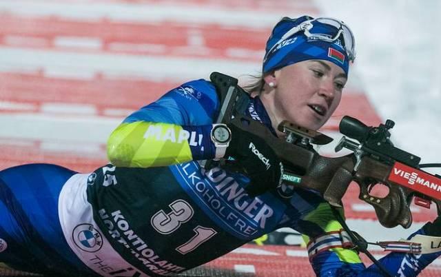 Белорусская биатлонистка Алимбекова победила в спринте