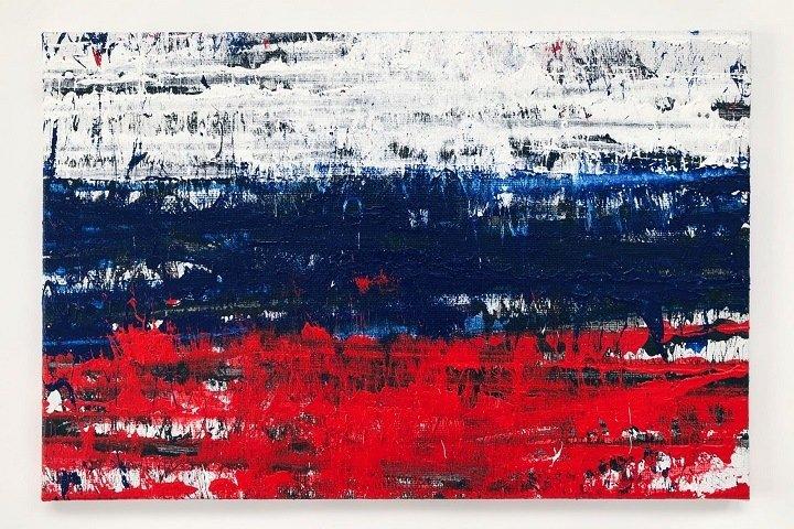Новосибирский художник продал «Флаг» за полмиллиона. Деньги пойдут на помощь задержанным на протестах