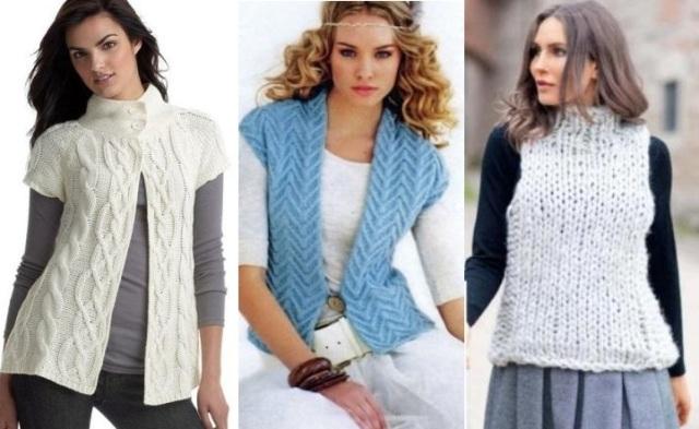 Модные вязаные жилеты: весна-осень 2021 года