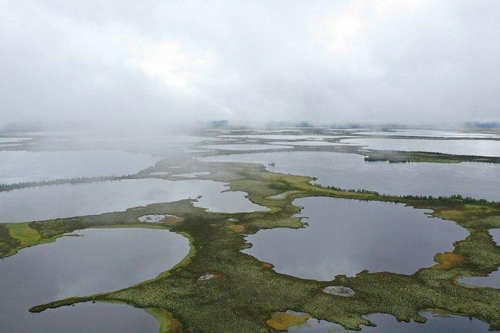 Томские ученые показали исчезающие озера вечной мерзлоты