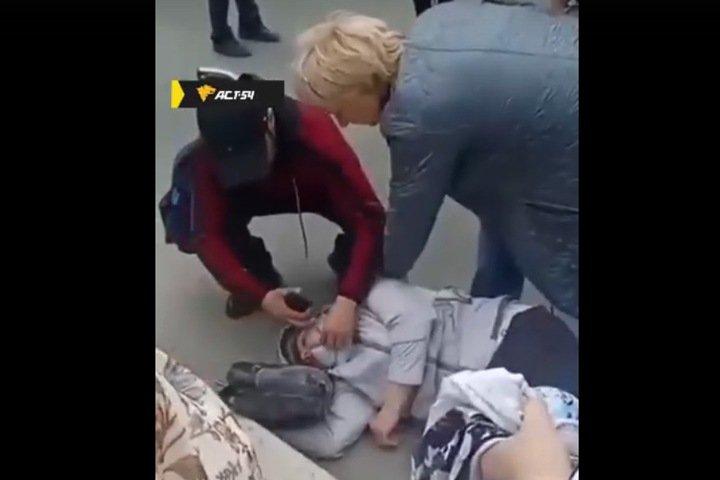 Женщину сбили на пешеходном переходе в центре Новосибирска