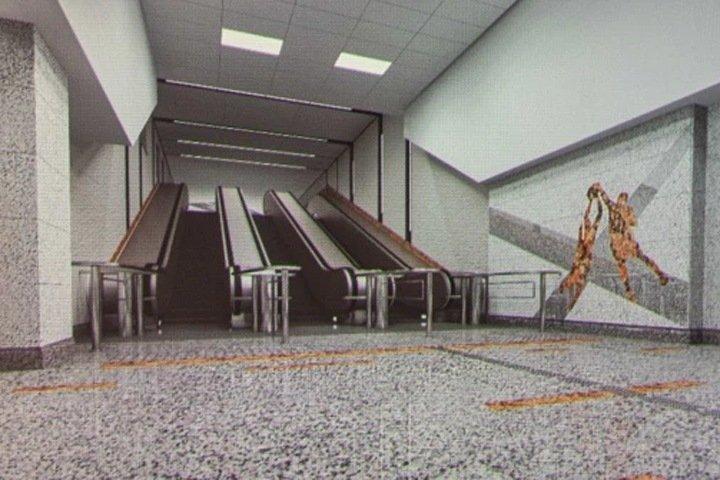 Новосибирцы начали собирать подписи за оформление станции метро «Спортивная» в оранжевом цвете